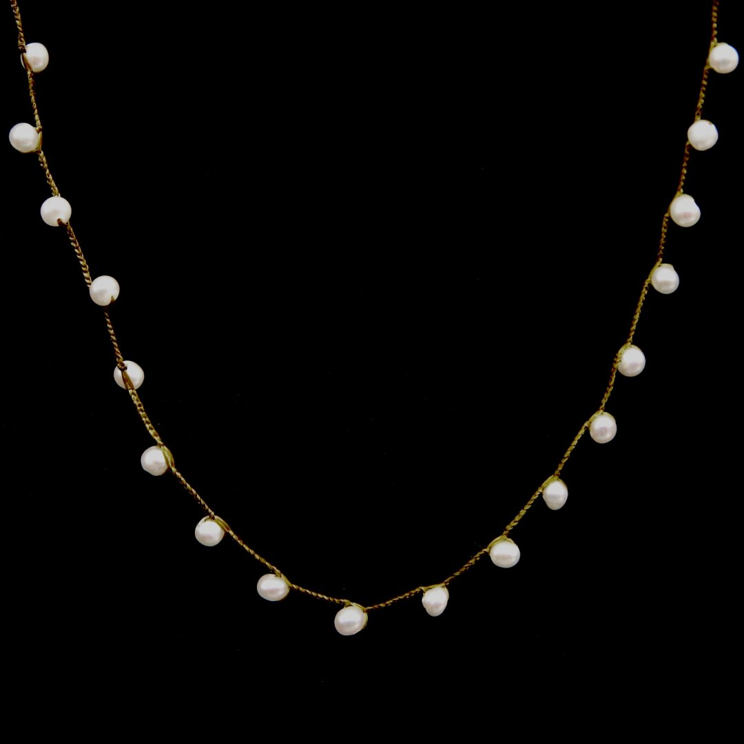 Amito  Pearl Necklace<br />ボタンユキネックレス short