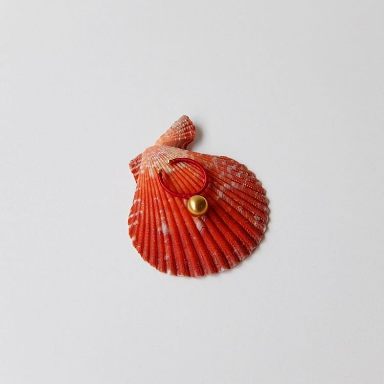 KIKKOU<br /> earcuff  no.85 [ gold point / red ]