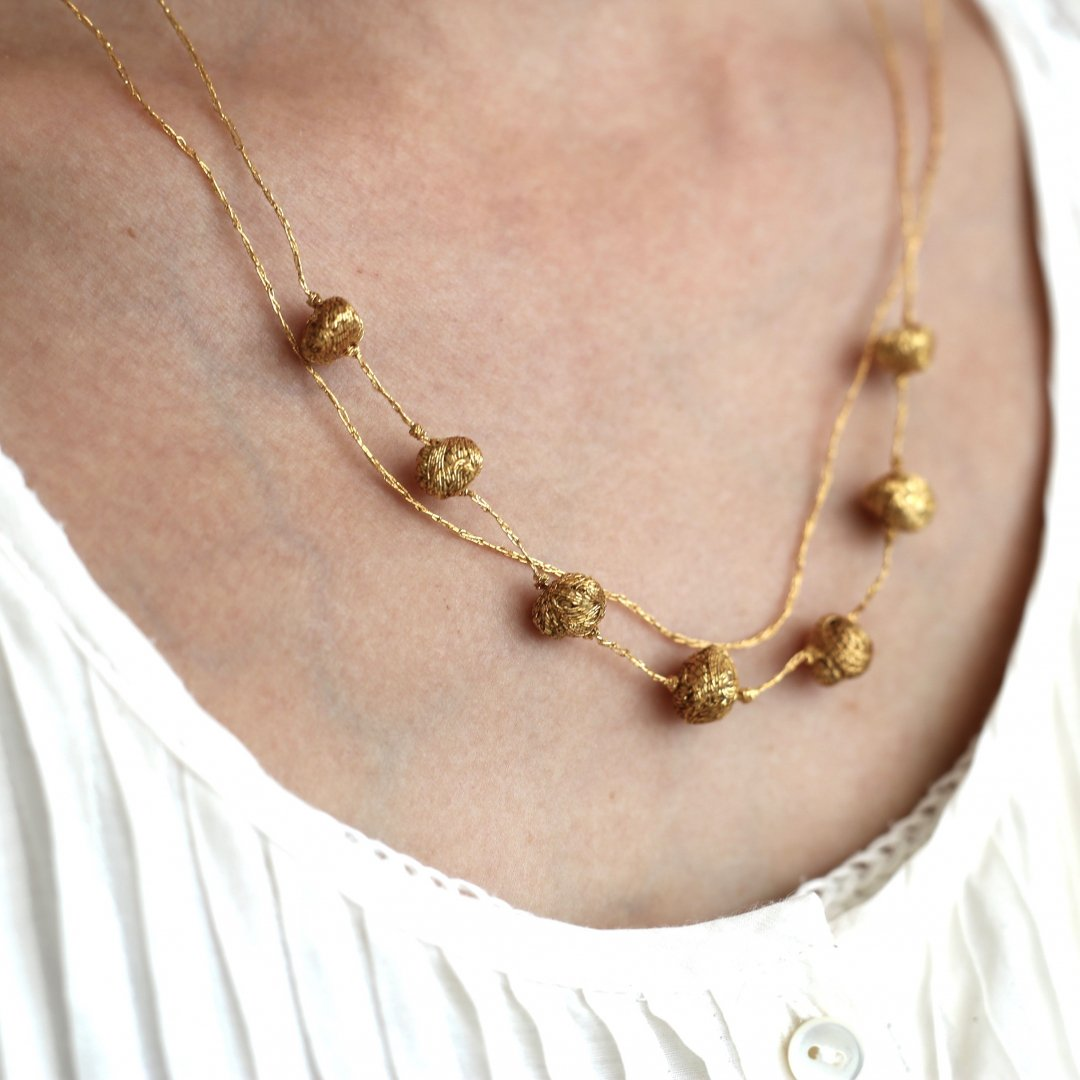 Suno&Morrison <br /> Gold Stone Necklace