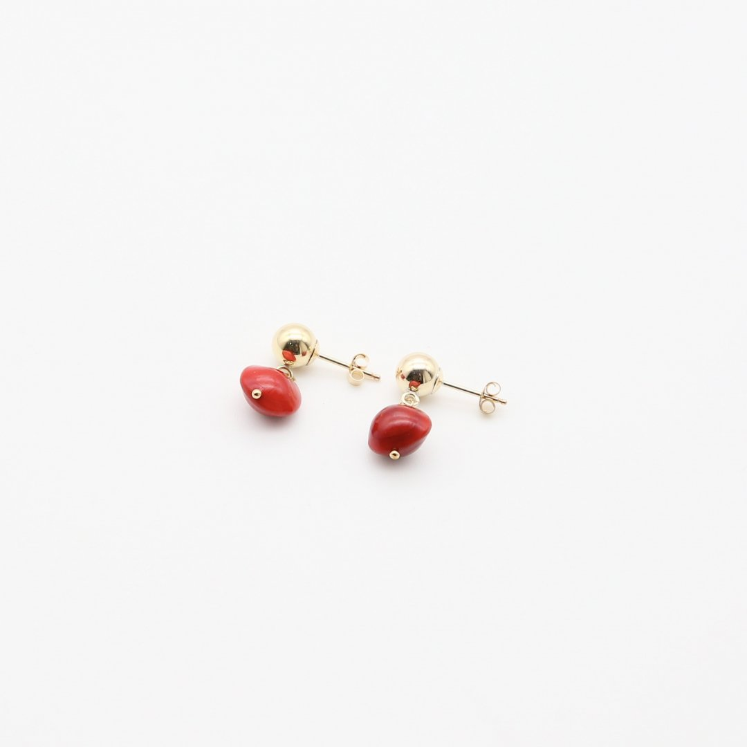 F&F <br />BOTANICAL EARRINGS<br />「Adenanthera pavonina」<br /> [ピアス・イヤリング]