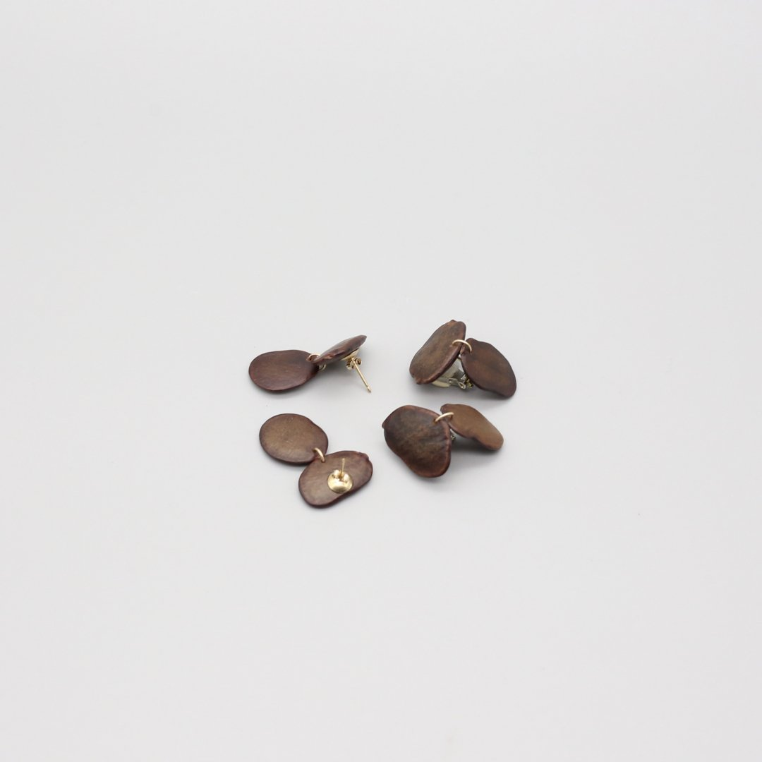 F&F <br />BOTANICAL EARRINGS<br /> 「Brachystegia」 <br /> [ピアス・イヤリング]