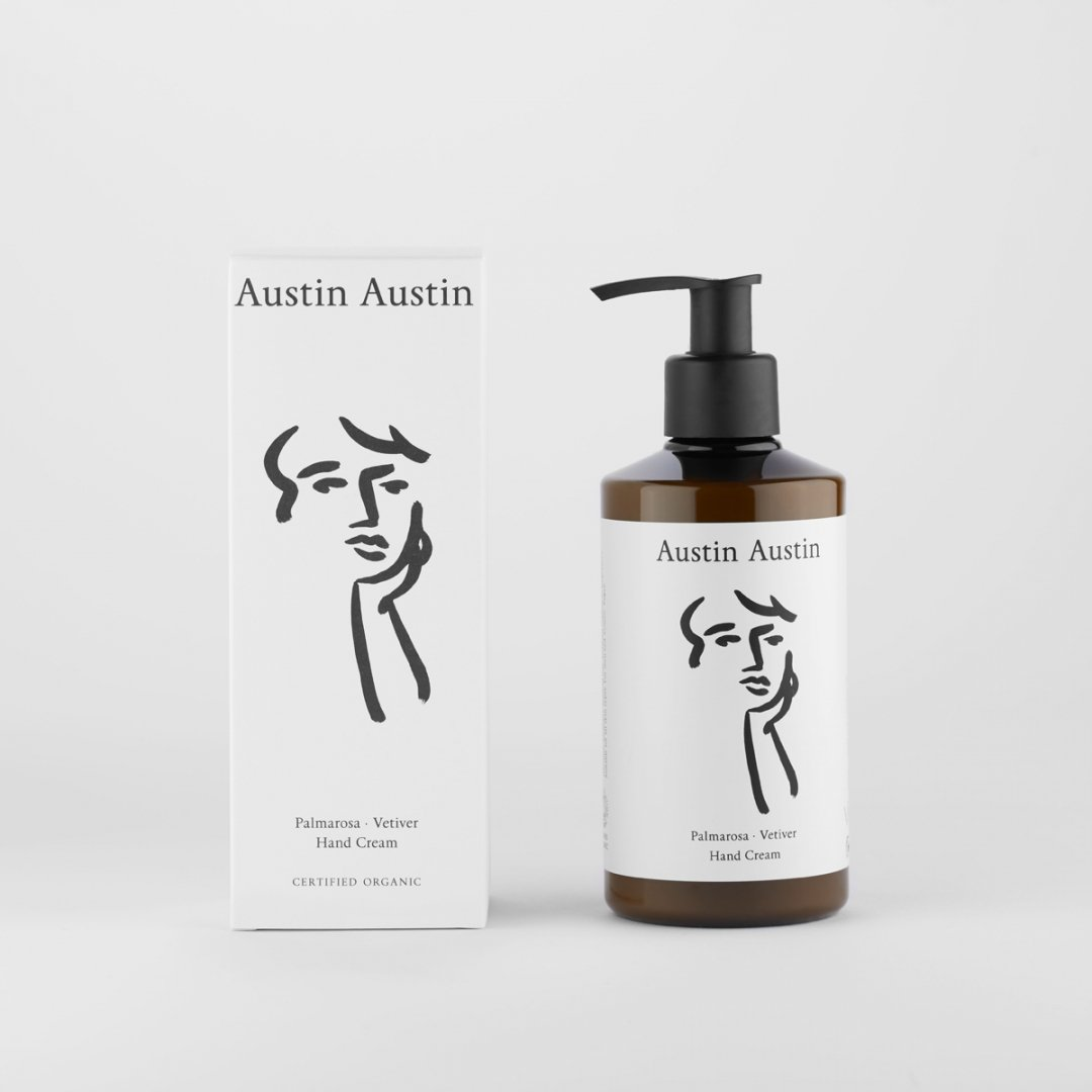 Austin Austin<br />hand cream 250ml<br />[palmarosa & vetiver]