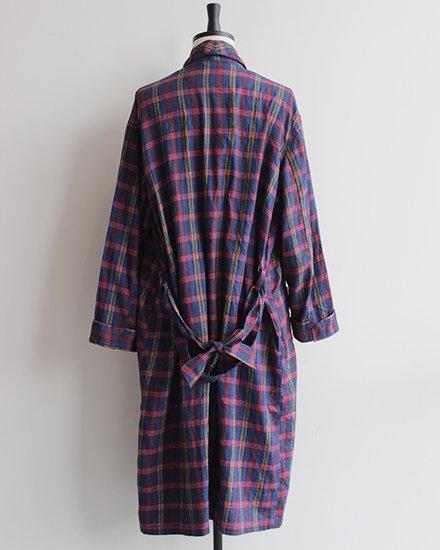 Vintage Retro Blau Karriertes Flannel  kleiderkreiselde