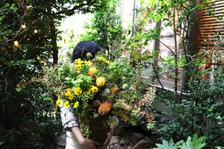 7/1より【世田谷区限定配達】basket /potted arrangement: seasonal
