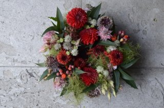 table wreath : seasonal