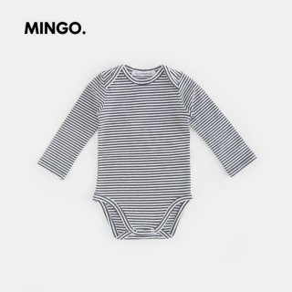 MINGO | Bodysuit | B/W stripes | 6-12m