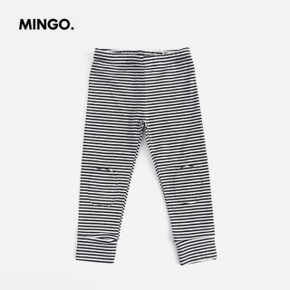 <img class='new_mark_img1' src='//img.shop-pro.jp/img/new/icons2.gif' style='border:none;display:inline;margin:0px;padding:0px;width:auto;' />MINGO | Legging jersey | B/W stripes | (1-2y)-(6-8y)