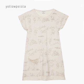 <img class='new_mark_img1' src='//img.shop-pro.jp/img/new/icons2.gif' style='border:none;display:inline;margin:0px;padding:0px;width:auto;' />yellowpelota | T-Shirt Dress | Natural | 2y-10y