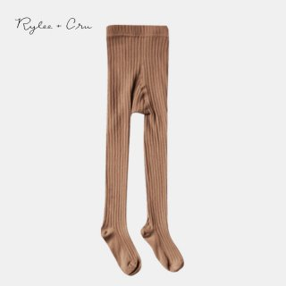 Rylee+Cru | solid ribbed tights | caramel (6-12m)-(3-5y)