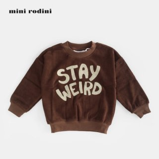 mini rodini | STAY WEIRD SP TERRY SWEATSHIRT | BROWN (80/86)- (116/122)
