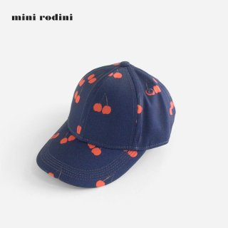 mini rodini | CHERRY PRINTED CAP | BLUE