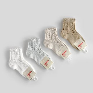 <img class='new_mark_img1' src='//img.shop-pro.jp/img/new/icons2.gif' style='border:none;display:inline;margin:0px;padding:0px;width:auto;' />condor|Perls Openwork Short Socks | 1Y-2Y