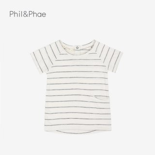 Phil&Phae | RAW-EDGED TEE | VANILLA STRIPE | 6-12m-5y