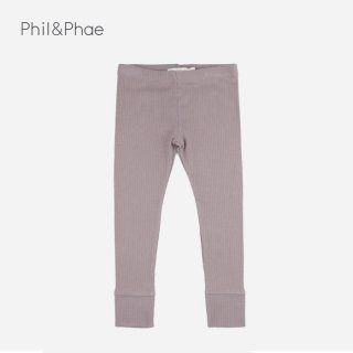 Phil&Phae | RIB LEGGINGS | HEZEGREY |  6-12m-3y