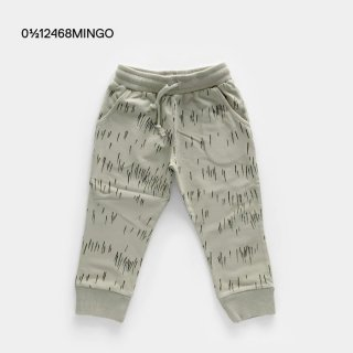MINGO | Slim Fit Jogger Grass Print Oak