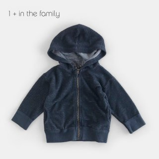 【割引クーポン対象商品】1+in the famiry | SINNAI hood jacket / BLUE NOTE | 9m-36m