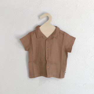 MY LITTLE COZMO | SHIRT - LINEN | TILE |18m-6y