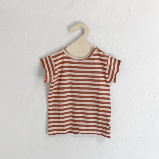 MY LITTLE COZMO | T-SHIRT - KNIT STRIPE | TILE |12m-6y