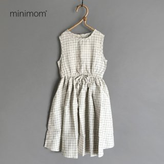 minimom | SIENNA DRESS | NATURAL CHECKED