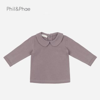 Phil&Phae | Baby Collar tee l/s | heather | 6-12m-18m