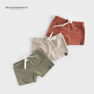 <img class='new_mark_img1' src='//img.shop-pro.jp/img/new/icons2.gif' style='border:none;display:inline;margin:0px;padding:0px;width:auto;' />BEACH&BANDITS | RIBBED SWIM SHORTS 水着