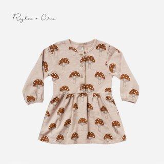 Rylee+Cru | mushroom button up dress  (12-18m)-(4-5y)