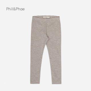 Phil&Phae | LEGGINGS STRIPES | straw |  6-12m-3y