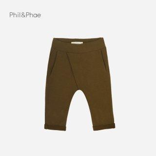 Phil&Phae | CROSS-OVER BABY CHINO | moss |  6-12m-18m