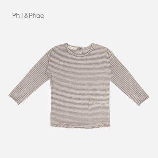 Phil&Phae | RAW-EDGED TOP STRIPES L/S | straw |  6-12m-6y