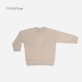 Phil&Phae | Teddy BABY SWEATER | straw |  6-12m-18m