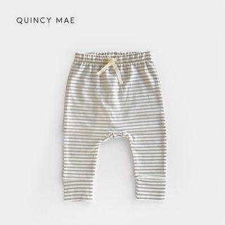 Quincy Mae | Drawstring Pants  | fog stripe (6-12m)-(12-18m)