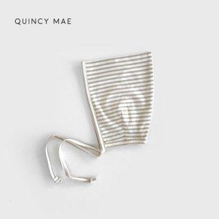 Quincy Mae | Pixie Bonnet | fog stripe 6-12m