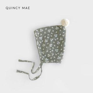 Quincy Mae | Pom Pom Pixie Bonnet | eucalyptus (6-12m)