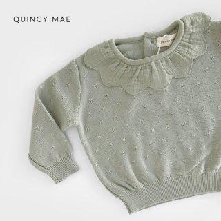 Quincy Mae | Petal Knit Sweater | sage (6-12m)-(2-3y)