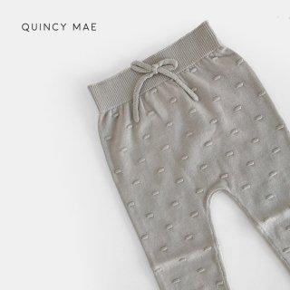 Quincy Mae | Knit Pants | fog (6-12m)-(18-24m)