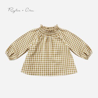 <img class='new_mark_img1' src='//img.shop-pro.jp/img/new/icons14.gif' style='border:none;display:inline;margin:0px;padding:0px;width:auto;' />Rylee+Cru | gingham audrey blouse |  (12-18m)-(6-7y)