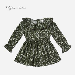 Rylee+Cru | vines ruffle collar baby dress |  (12-18m)-(2-3y)