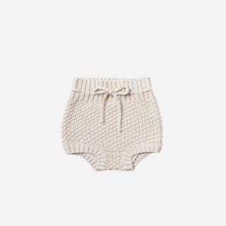 Quincy Mae | Knit Tie Bloomer | Pebble (6-12m)-(18-24m)