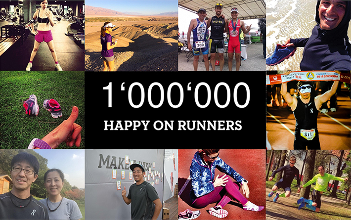 1000000 HAPPY ON RUNNERS