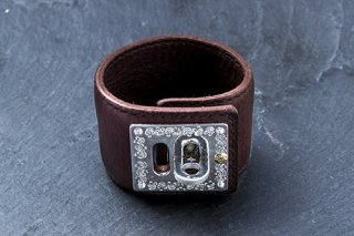 Lock tight Leather bracelet (brown)