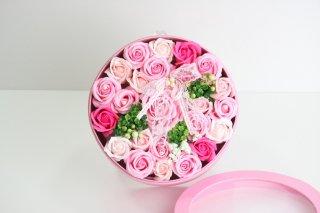 せっけんで出来た【シャボンフラワーBOX ピンク】3800円(税別)