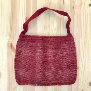HAND WOVEN BAG RED
