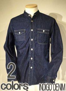 コリンボ ZS-0302  GARIBALDI GARDEN SHIRT 衿無し ワークシャツ クラシック 左右非対称