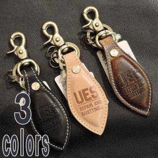 UES ウエス 革キーホルダー ブラック/ヌメ/ブラウン891449