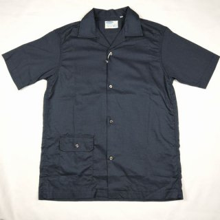 WORKERS Open Collar Shirt, Navy CL Cloth オープンカラーシャツ ワーカーズ