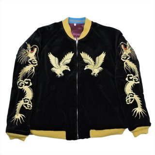 "Dry Bones DJ-1074 Embroidered Jacket ""GOLD HAWK"" ドライボーンズ"