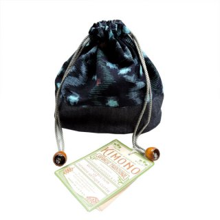 STUDIO DARTISAN 7489 KIMONO-KASURI巾着 ダルチザン アンティーク 着物 巾着 インディゴ 雑貨 アクセサリー
