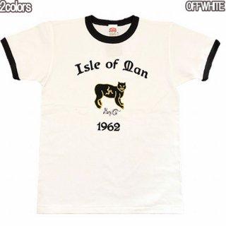"""Dry Bones PT-806 Print T-Shirt""""MANXCAT""""ドライボーンズ プリントTシャツ 1950S 50S ロカビリー ビンテージ リンガー 半袖"""