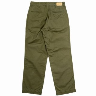 Workers Officer Trousers, Vintage, Type 2, OD Herringbone ワーカーズ チノパン トラウザーズ スリム ミリタリー オリーブ