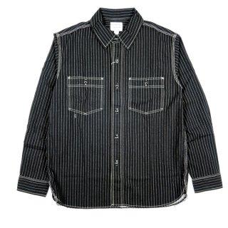 PHERROWS 20W-725WS フェローズ シアサッカー生地 ワークシャツ ウォバッシュ 長袖シャツ